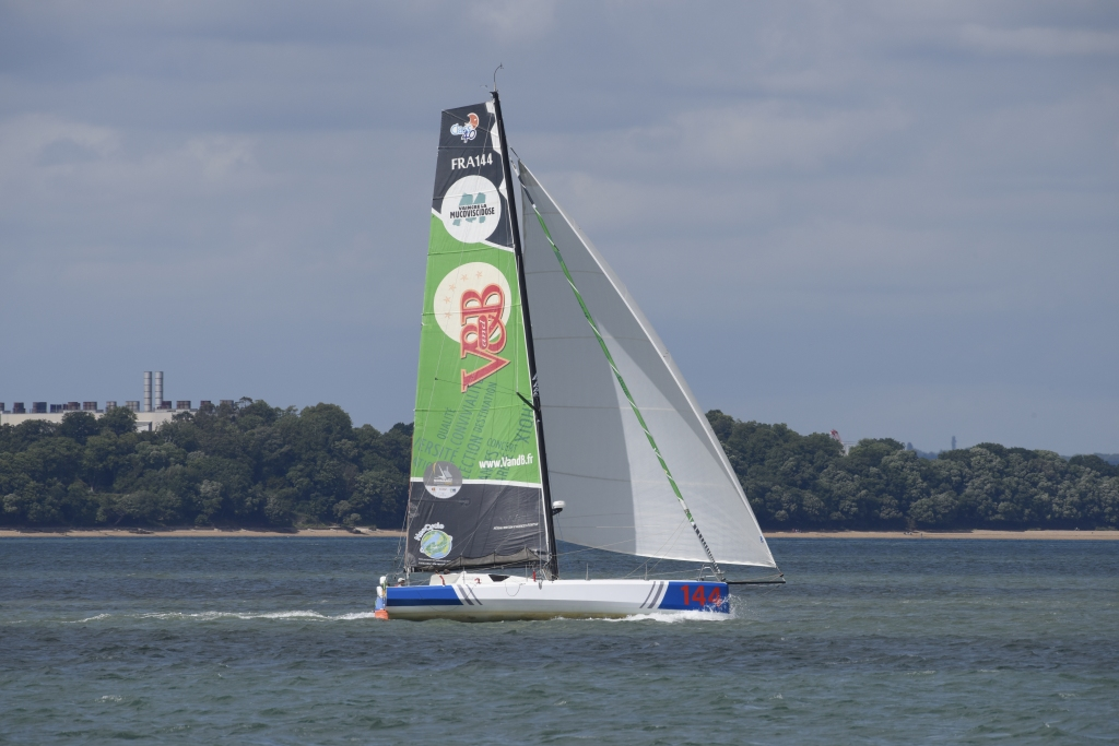 Sailing off of Cowes